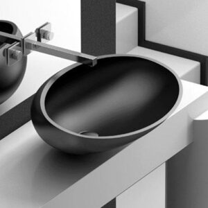 Glass Design Kool Oversize Luxury Modern Oval Countertop Basin 65x49 cm