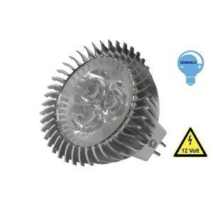 LED Σποτ MR16 3 Watt, 12V, 45°, Θερμό-Ψυχρό-Ημέρας