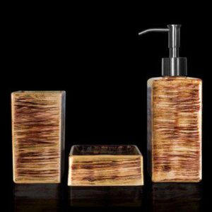 Glass Design GRAFFITI Luxury Modern 3 Piece Bathroom Accessories Set