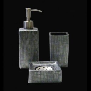Glass Design VENICE Luxury Modern 3 Piece Bathroom Accessories Set